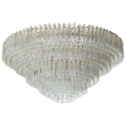 Chandelier with Triedro Elements, Attributed to Venini, circa 1970s