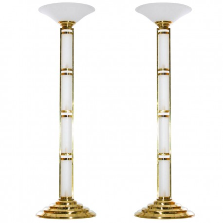 Pair of Italian Design Floor Lamps, circa 1960s