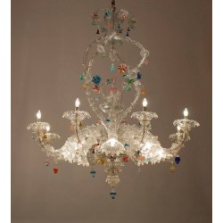 Italian Ca'rezzonico Chandelier in the Style of Seguso, circa 1950s