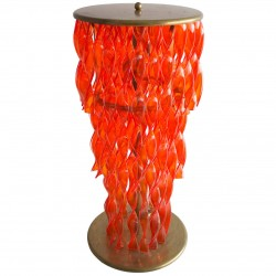 Orange Italian Murano Glass Floor lamp, 1950s