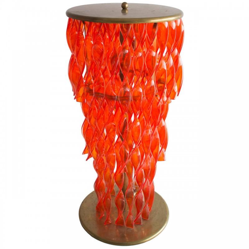 Italian Venetian Murano Glass Floor lamp in orange 1950s