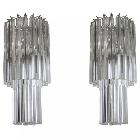 Pair of Italian Chandeliers Attributed to Camer Glass, circa 1960s