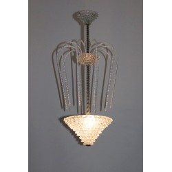 Italian Chandelier Attributed to Design of Ercole Barovier, circa 1940s
