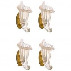 Four Italian Murano Glass  Sconces, Romano Donà 1980s