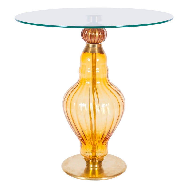 Italian Glass Coffee Table.Italian Murano Glass Coffee Table Circa 1960s