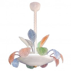 Murano Chandelier Multicolor