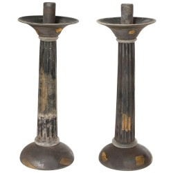 Pair of Murano Glass Candlesticks Made in 1950s by Cenedese