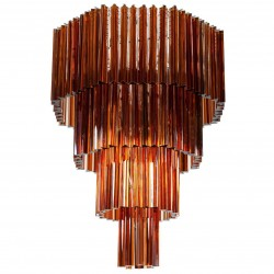 Italian Murano Glass Chandelier Attributed to Venini, circa 1970s