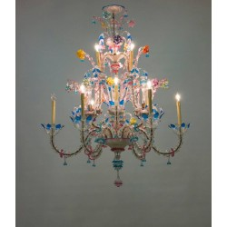 Italian Ca' Rezzonico Chandelier in the Galliano Ferro Style