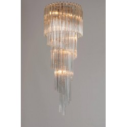 Italian Spiral Chandelier Attributed to Camer Glass, circa 1970s