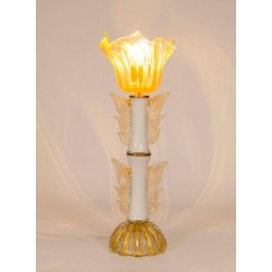 Italian Murano Gold Table Lamp, circa 1950s