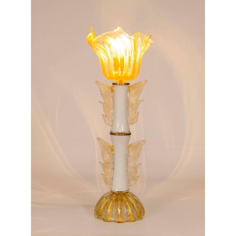 Italian Murano Gold Table Lamp, Circa 1950s