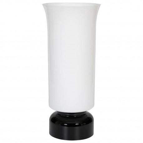 Italian Murano Black and White Table Lamp, circa 1960s