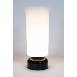 Italian Murano Black and White Table Lamp, circa 1960s