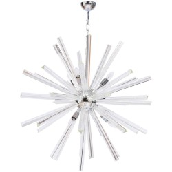 Italian Sputnik Chandelier, Attributed to Camer Glass Around 1970s
